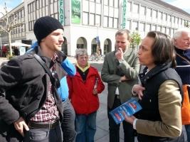 Wahlkampf Neubrandenburg 2014